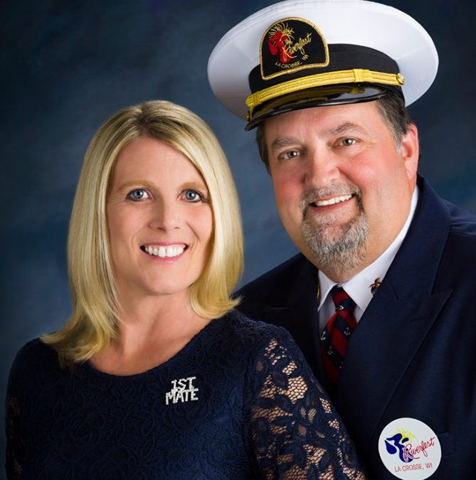 Riverfest Welcomes 2019 Bill LaRue and First Mate Tari
